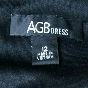 AGBDress Dresses - Black Faux Wrap-Style Dress by  ABGDress Size 12